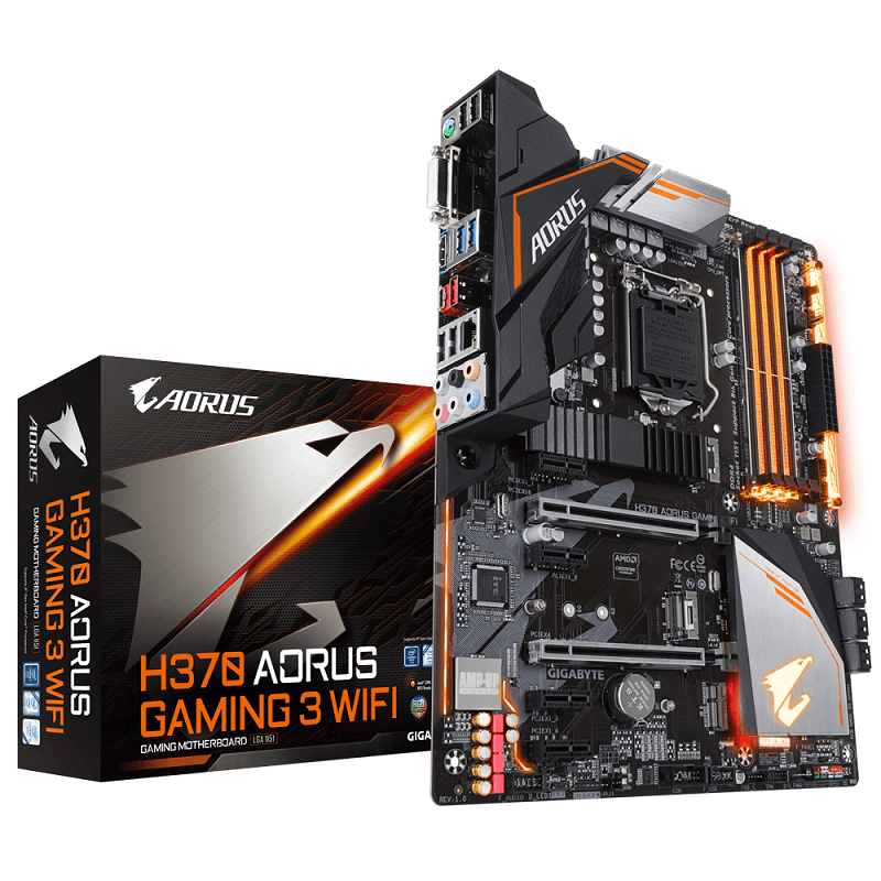 gigabyte, h370, aorus, gaming, motherboards, b360, ultra durable, intel, coffee lake, 8th generation, core, processors, cpus, i7-8700k, optane, ultra durable, h310, dualbios