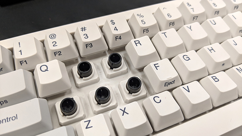 Regular Topre switches are incompatible with keycaps designed for Cherry MX-style switches.