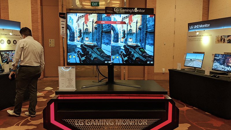 The LG 32GK850G gaming monitor supports up to a 165Hz refresh rate.