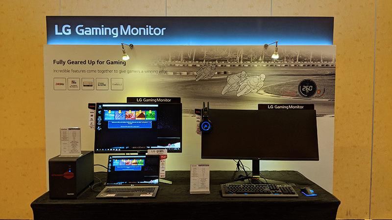 LG has both flat and UltraWide curved gaming monitors.