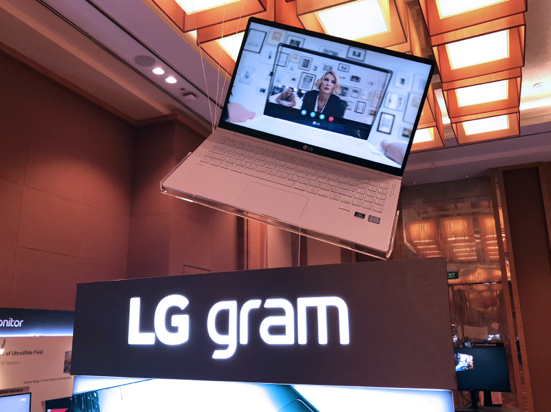 LG has updated its gram notebooks with the latest 8th generation Intel Core processors.