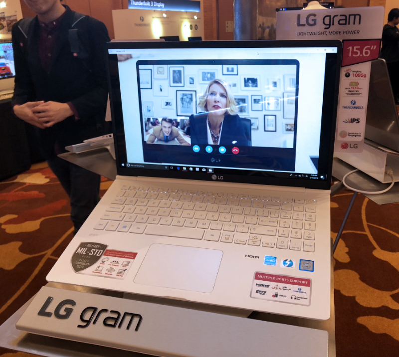 The gram 15 also comes in white. It still holds the record for being the lightest 15-inch notebook in the world.