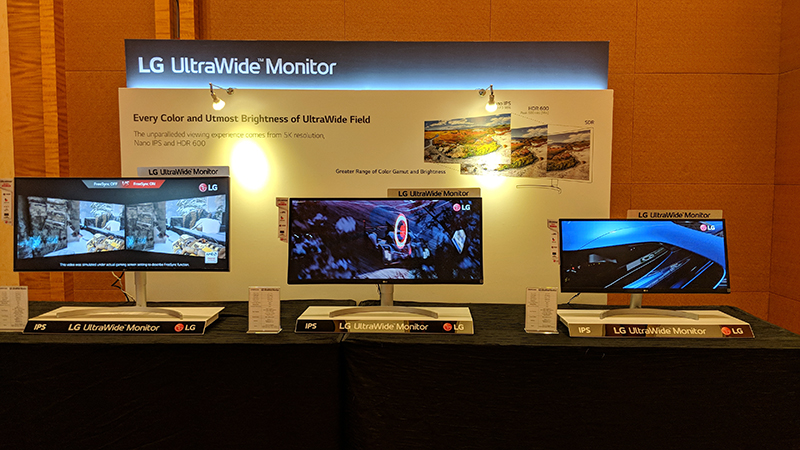 LG shows off its new range of gaming, UltraWide, and 4K