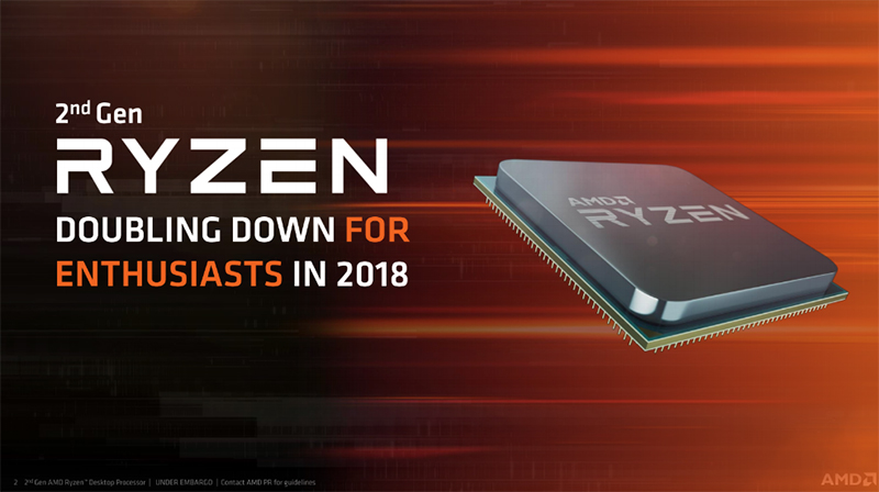 AMD announces second-generation Ryzen processors and new
