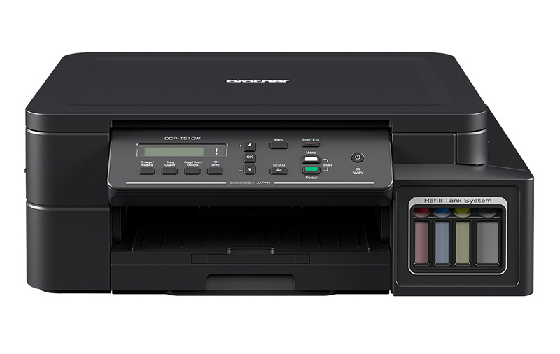 The Brother DCP-T510W offers a print speed of 12ipm for mono and 6ipm for color.