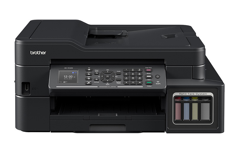 The flagship model in Brother's latest ink tank printer series is the MFC-T910DW.