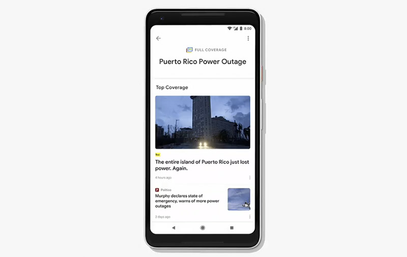 Full Coverage will give you a 360-degree view of a particular topic, well beyond what you get from scanning through a few headlines.