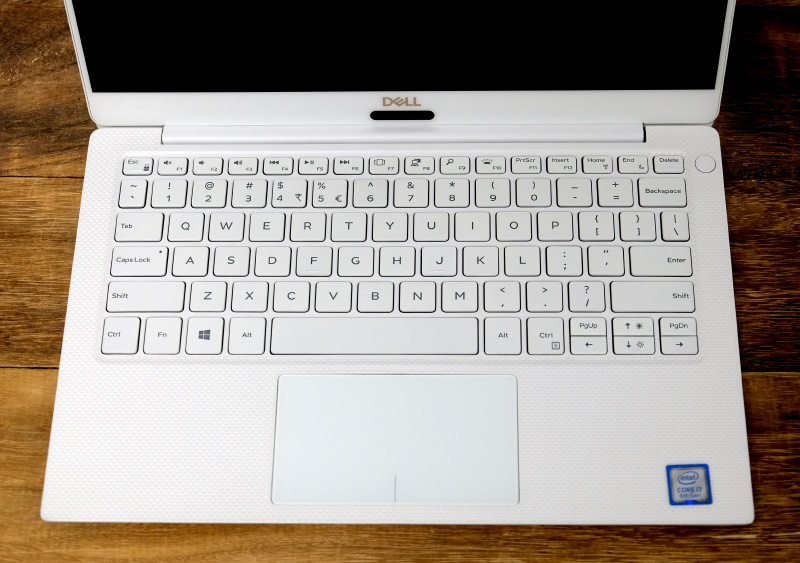 The keyboard is pleasant to type on and the trackpad is accurate and responsive. There's barely any flex in the chassis.
