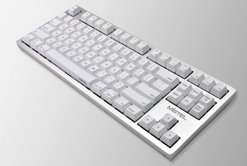 The simple and clean design of the Mistel MD870 Sleeker keyboard makes it a great match for your Mac computers. (Image source: Mistel)