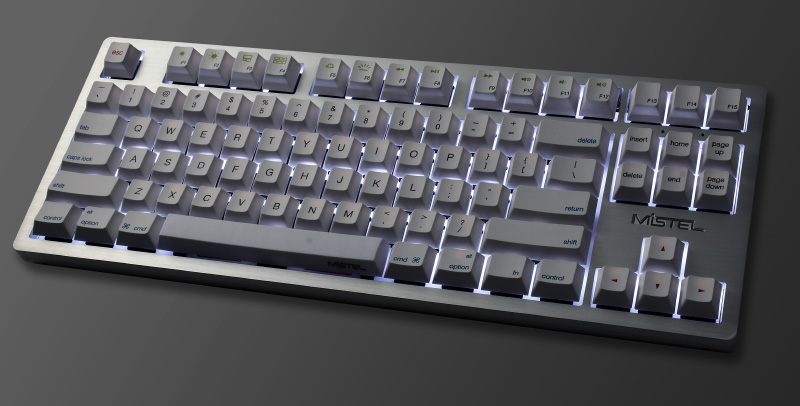 If you want RGB backlight, look elsewhere. (Image source: Mistel)