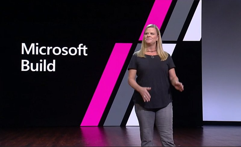 Charlotte Yarkoni, corporate vice president of Growth and Ecosystem, at Build 2018.