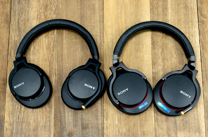 Though the MDR-1AM2 (left) looks just like its predecessor, it sounds quite different.