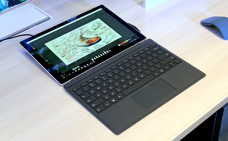 The Microsoft Surface Pro (2017).