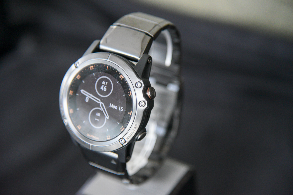 The DLC titanium bezel variant with brushed titanium bracelet is slightly lighter than their stainless steel brethen.