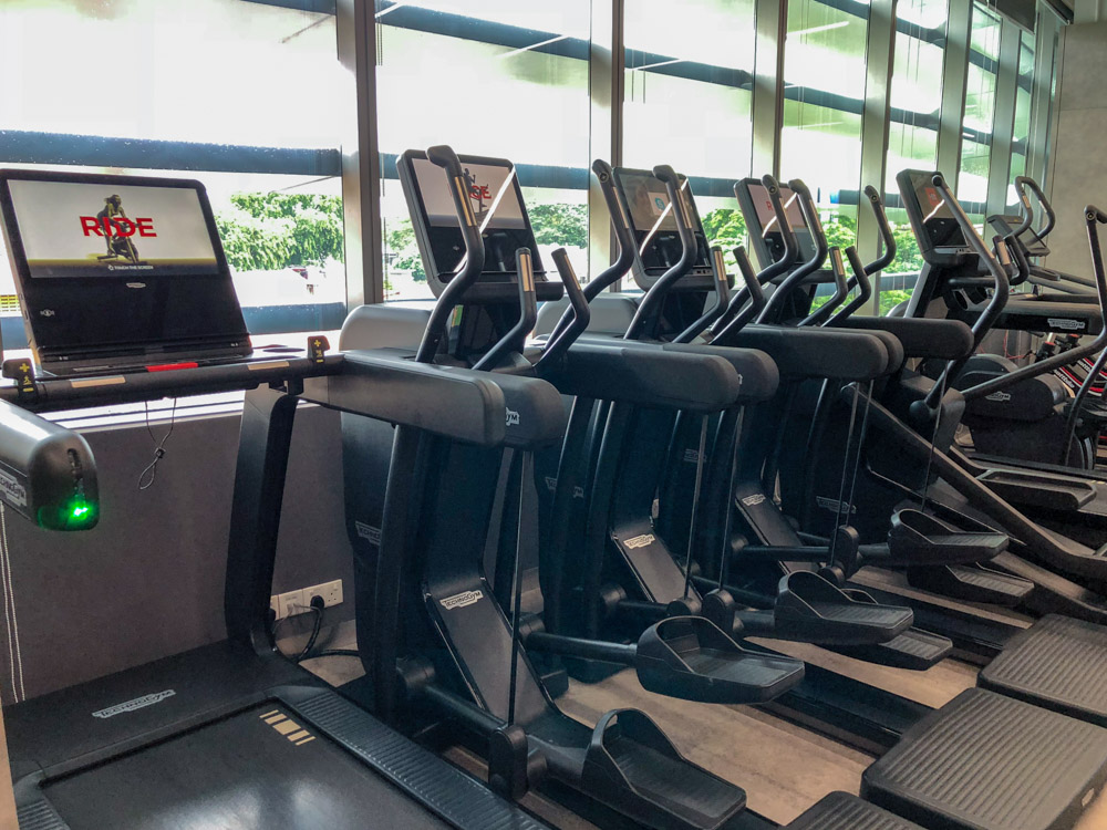 Some of the cardio machines in Virgin Active Holland Village that support GymKit.