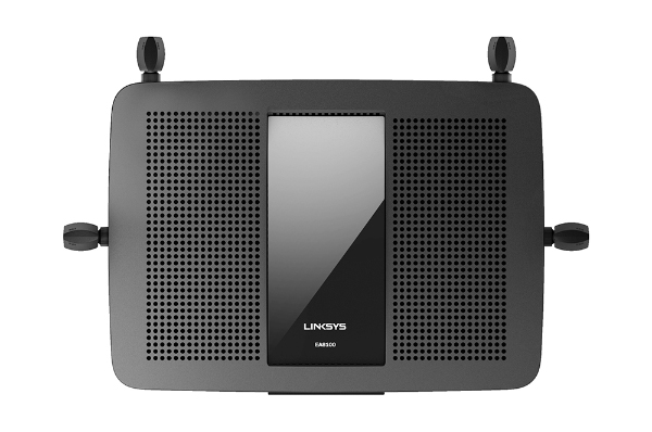 The Linksys EA8100 features four antennas for wide area coverage.