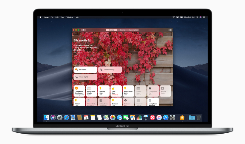 The Home app on macOS Mojave. (Image source: Apple)