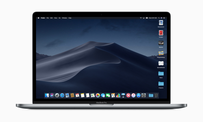 Desktop Stacks in action on the right of screen. (Image source: Apple)