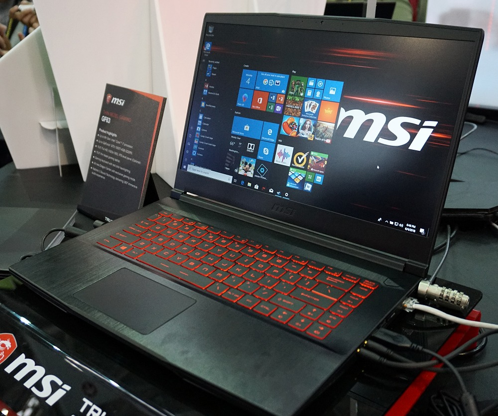 The MSI GF63 will ensure even budget gamers can enjoy the latest design advancements.