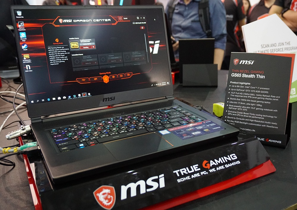 First Looks: MSI GS65 Stealth Thin takes thin bezel gaming