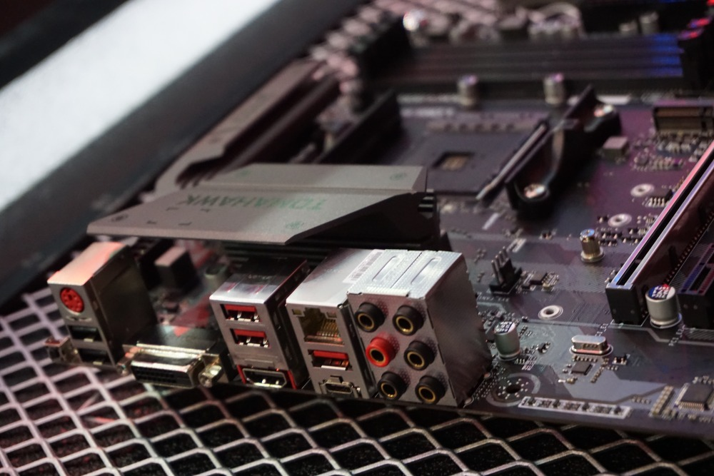 You'll find a good mix of rear I/O ports on the rear of the B450 Tomahawk