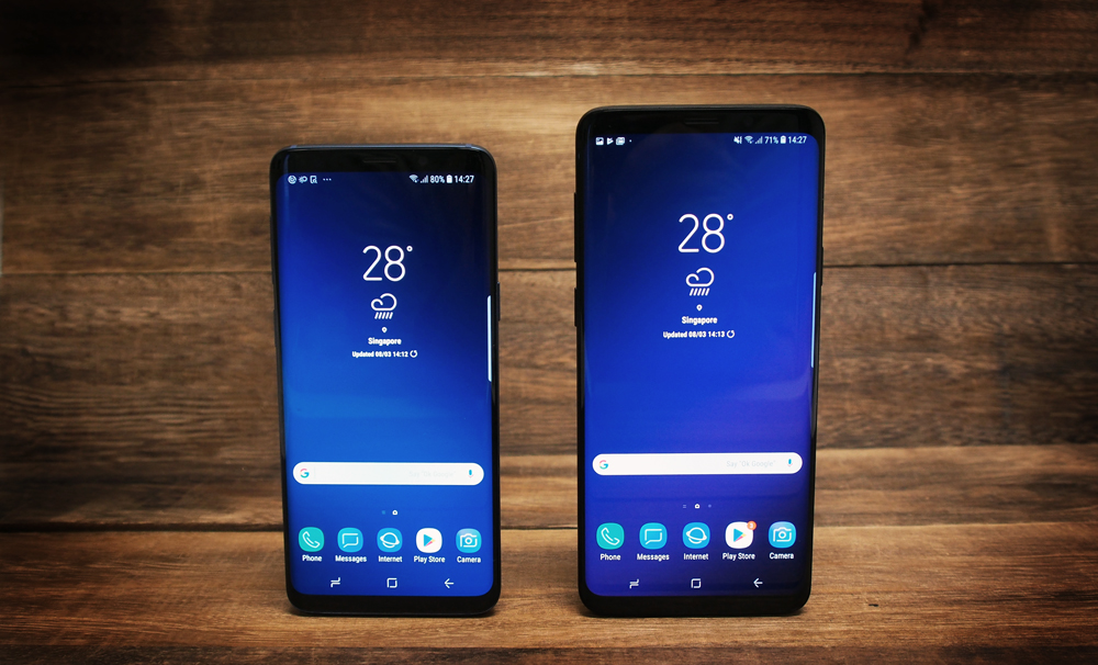 The Samsung Galaxy S9 and S9+.