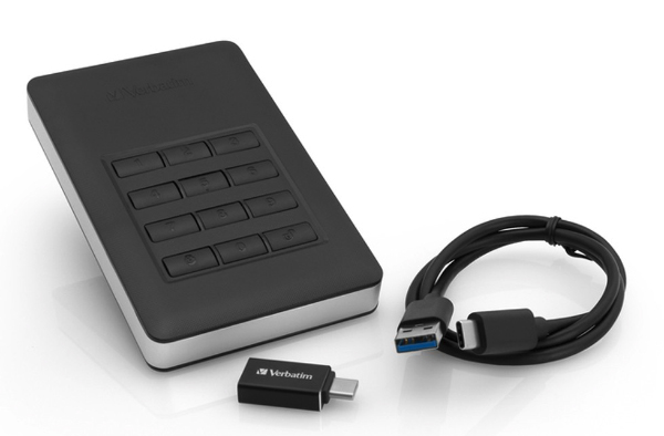 Verbatims Store N Go Secure Portable HDD Has A Built In Keypad