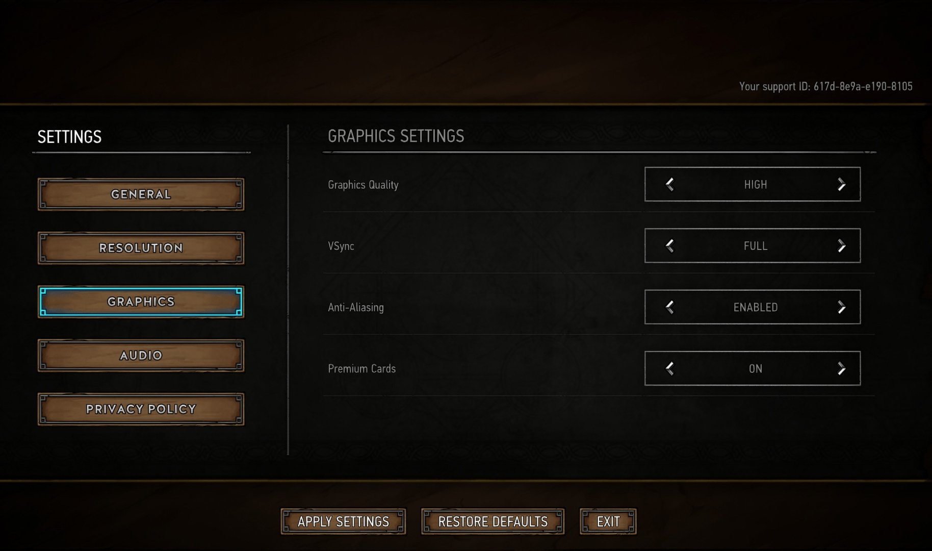 What we tested with for Gwent.
