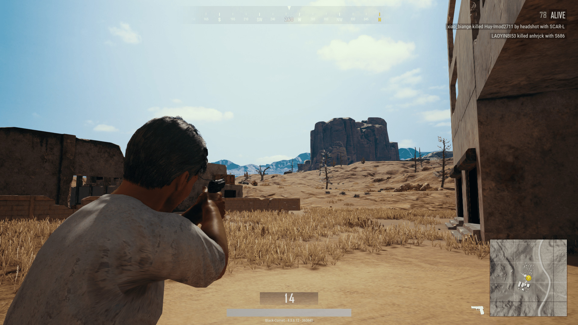 Checking out your immediate area for any other players is the key to survival.