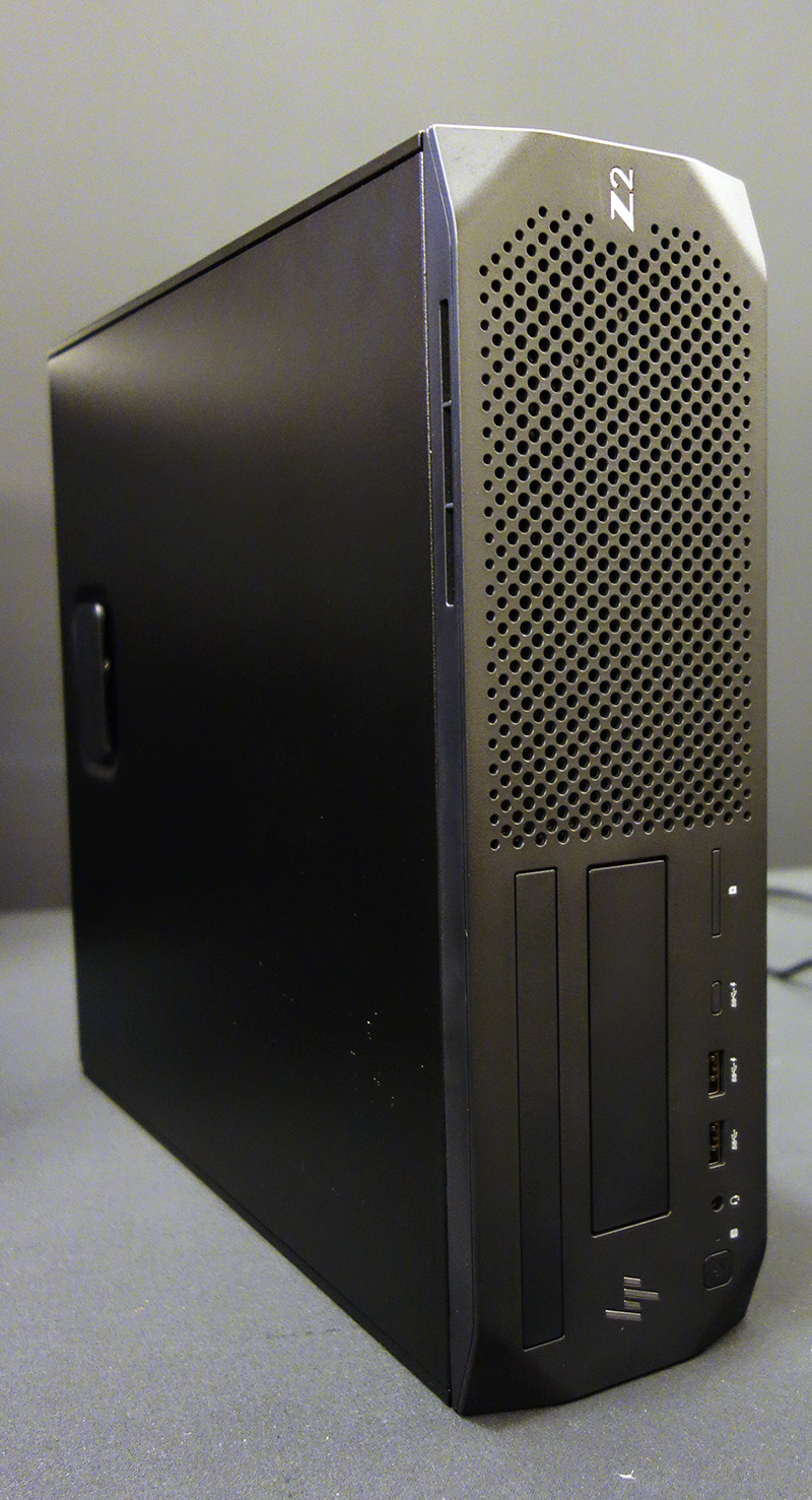 HP Z2 SFF G4 workstation features the same chiselled look at the HP Z2 G4 Tower.