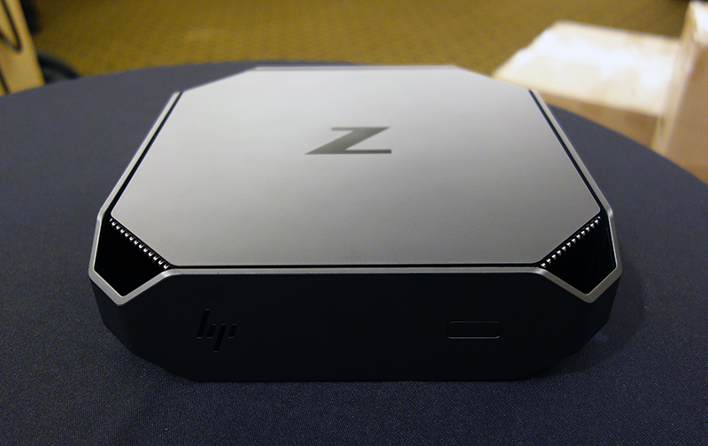 The HP Z2 G4 Mini workstation offers flexibility in deployment without any performance compromise. Its unique form factor is also on point in product design aesthetics.