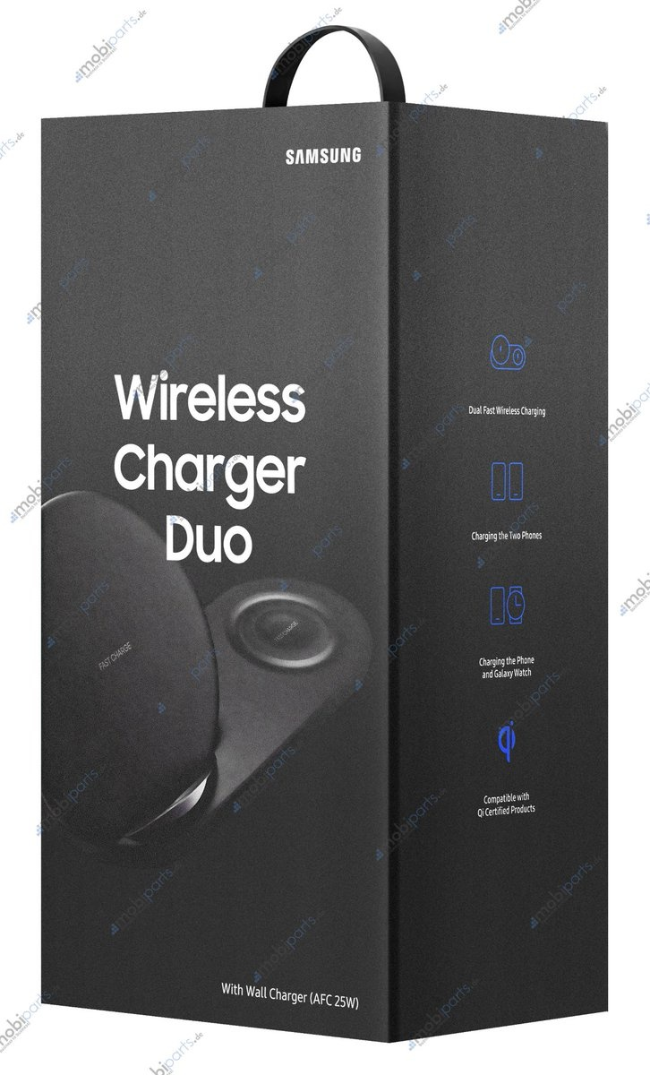 Purported photo of the Samsung's new Wireless Charger Duo. <br>Image source: mobiparts.de