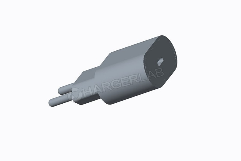 Purported render of Apple's new 18W USB-C power adapter. <br>Image source: ChargerLab