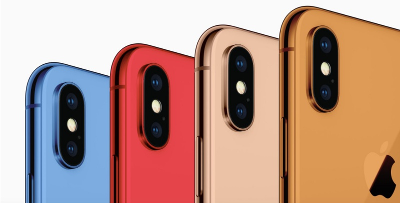 Concept images of the new color finishes for the 2018 iPhone. <br>Image source: 9to5Mac