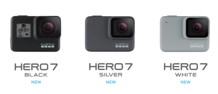 GoPro targets the entry, mid and premium segments with three