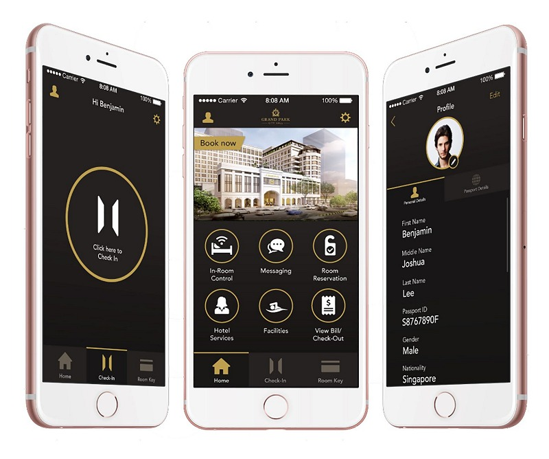 GTRIIP's solution integrated within Grand Park City Hall hotel's app. (Image source: Park Hotel Group)