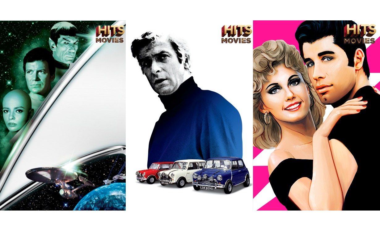 Some of the movies you can expect from HITS Movies channel are Star Trek: The Motion Picture, The Italian Job, and Grease.