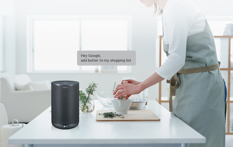 The LG WK7 is yet another smart speaker that supports Google Assistant.
