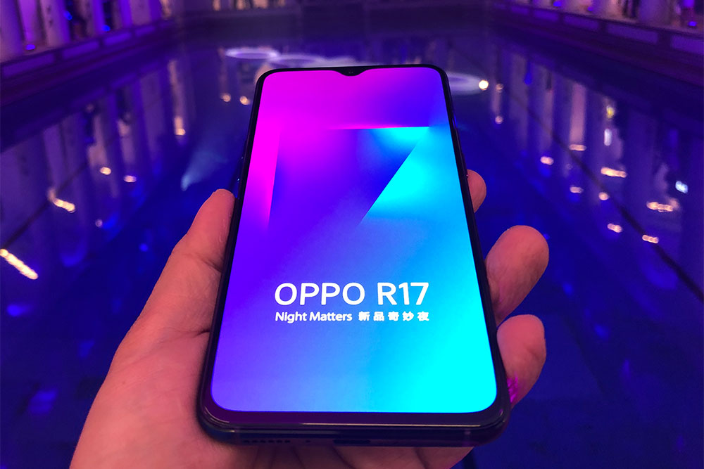 The R17 Pro has the same notch as the one on the regular R17.