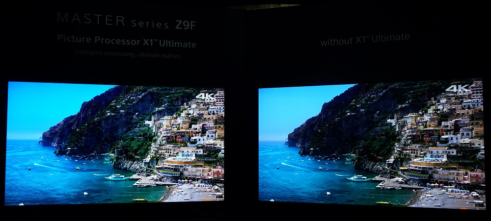 Can you spot the difference in this comparison? Yes, the hillside areas are much clearer with the X1 Ultimate at work and is no longer a dark mess.