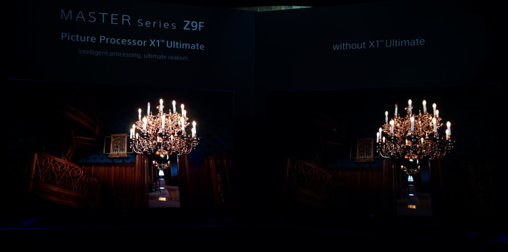 And here's one last comparison in a dark scene – look at how much more detail the X1 Ultimate has brought to light, literally speaking.