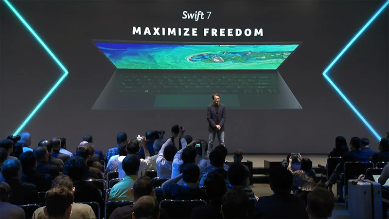 The Acer Swift 7 is the world's thinnest 14-inch notebook.