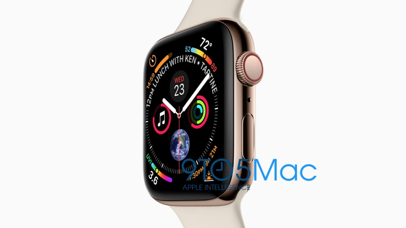 The Apple Watch Series 4. <br>Image source: 9to5Mac