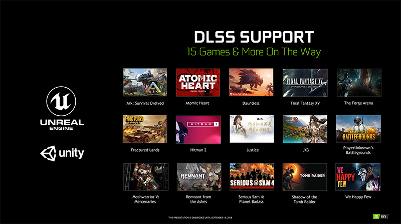 Developers will need to support DLSS for it to really take off. (Image Source: NVIDIA)