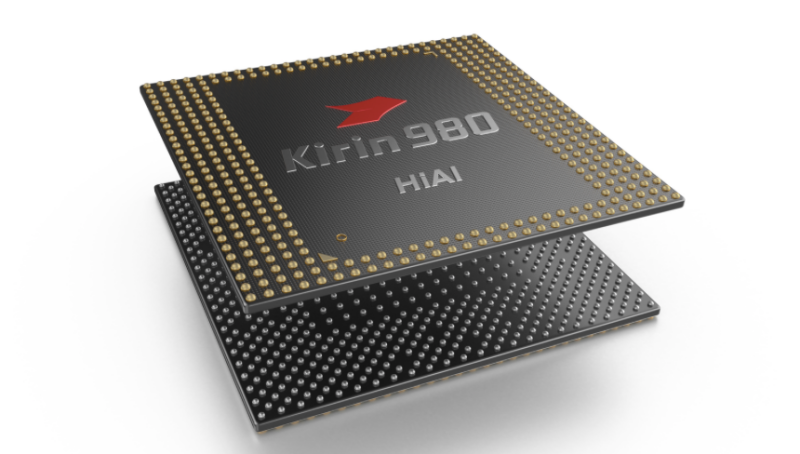 The current-gen Kirin 980 is used in phones such as the Huawei P30. (Image: Huawei.)