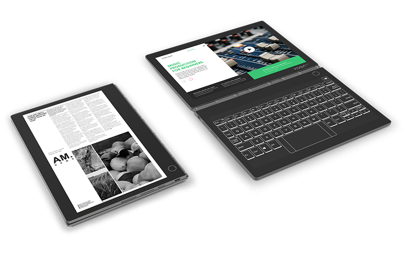 Lenovo's Yoga Book C930 is a dual-screen laptop with an E Ink