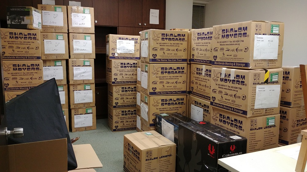 This is just one of our test/storage rooms that we had to pack... we've a few more.