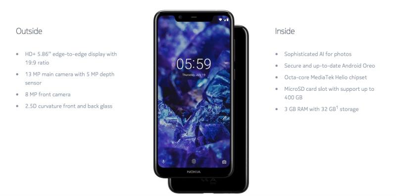 The Nokia 5.1 Plus. <br>Image source: Nokia