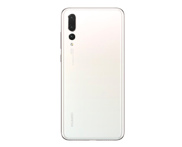 The pearl white Huawei P20 Pro.