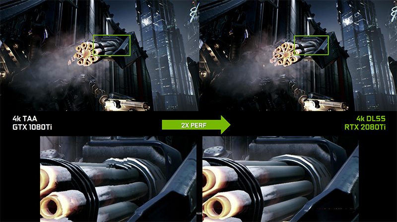 NVIDIA says DLSS should look better than TAA and still have less of a performance hit. (Image Source: NVIDIA)